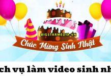 dịch vụ làm video sinh nhật