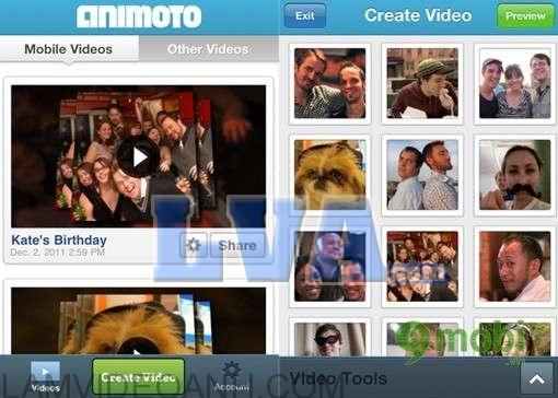 phần mềm làm video ảnh trên điện thoại Animoto Video Maker