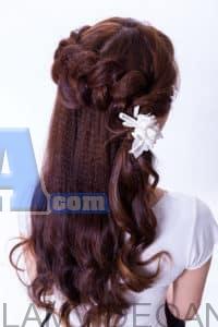 tóc buộc nửa đầu
