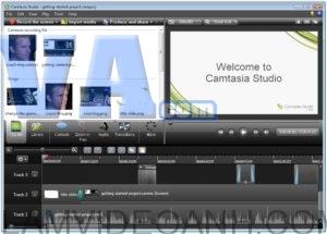 giao diện phần mềm camtasia