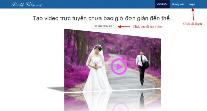 Ứng dụng làm video Buildvideo