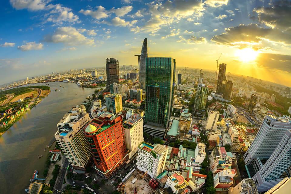 Hình ảnh chụp bằng Flycam tại thành phố