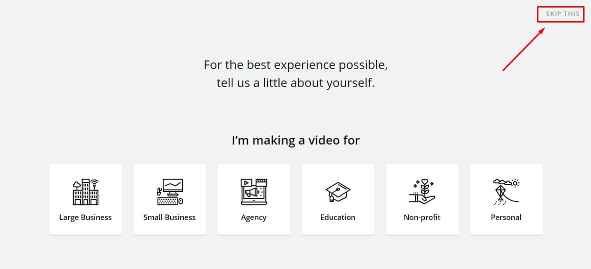 Chọn chủ đề làm video theo yêu cầu từ ứng dụng