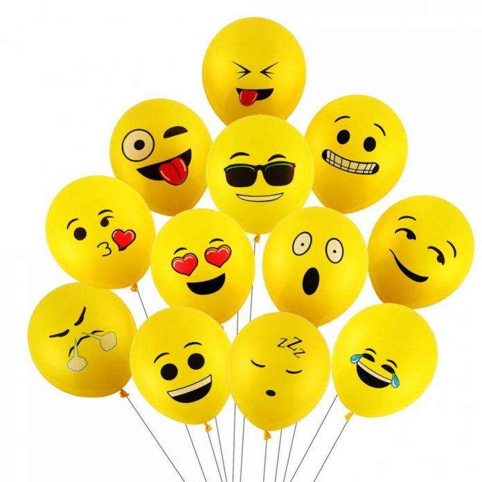 hình ảnh những quả bóng bay với gương mặt nhiều cảm xúc